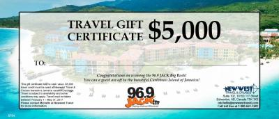 Gift Certificates Newwest Travel Cruises